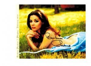 Barbara Parkins, genuine signed autograph, 10 x 8 inch,  06566